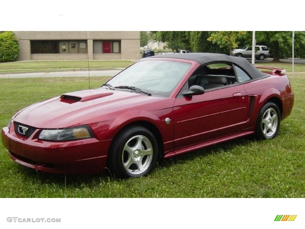 2004 40th anniversary crimson red metallic ford mustang v6 convertible 34168601. Black Bedroom Furniture Sets. Home Design Ideas