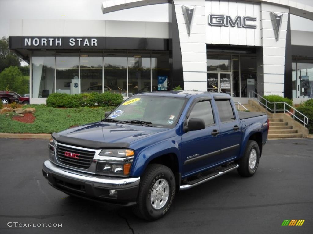 2005 superior blue metallic gmc canyon sle crew cab 4x4. Black Bedroom Furniture Sets. Home Design Ideas