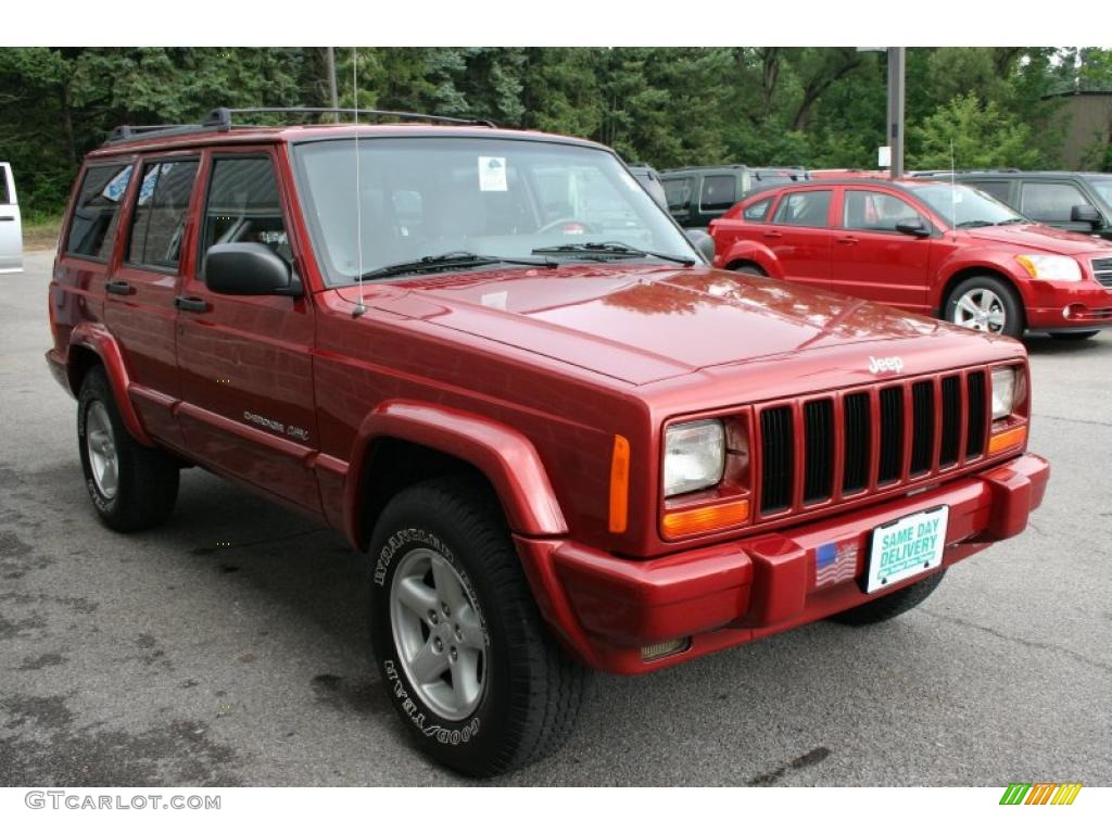 1999 chili pepper red pearl jeep cherokee classic 4x4 Classic red paint color