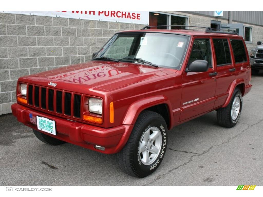 1999 chili pepper red pearl jeep cherokee classic 4x4 #34168746