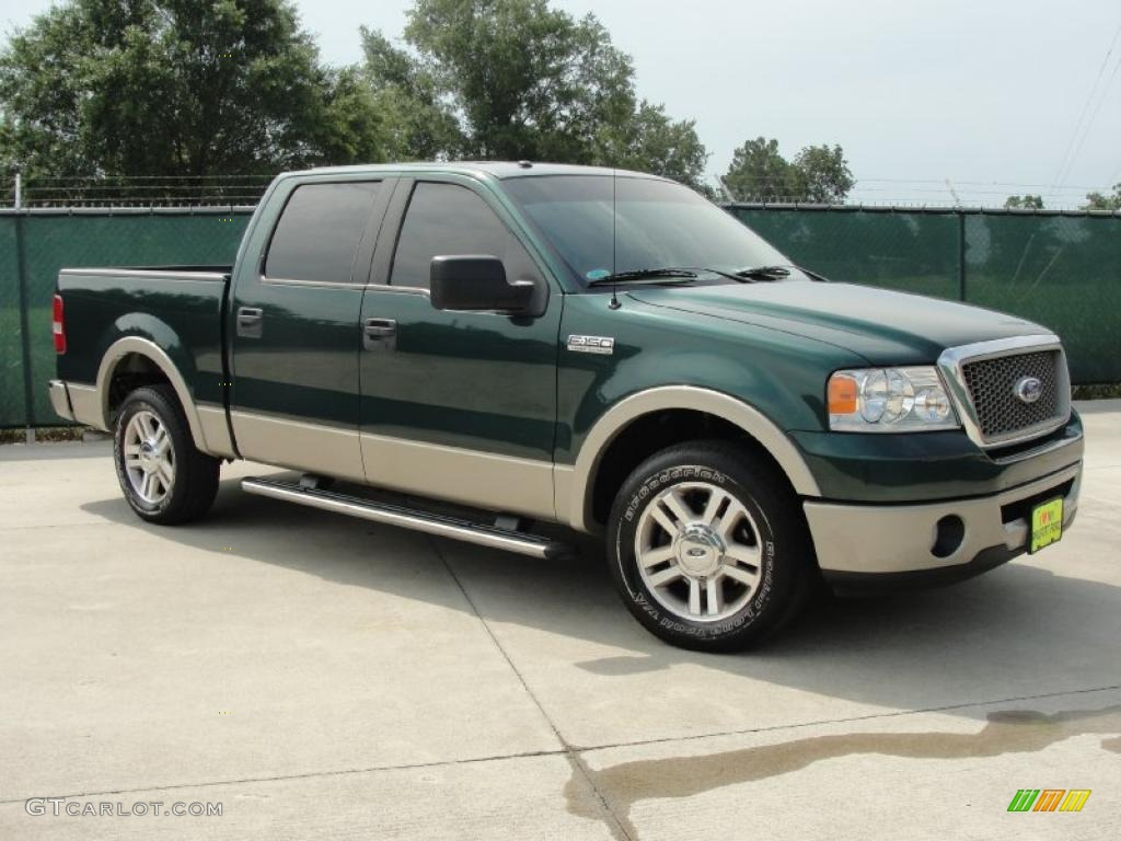 2007 f150 lariat supercrew forest green metallic tan photo 1