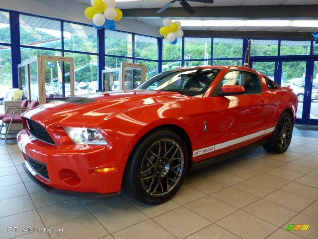 2011 Mustang Shelby GT500 SVT Performance Package Coupe - Race Red / Charcoal Black/White photo #1