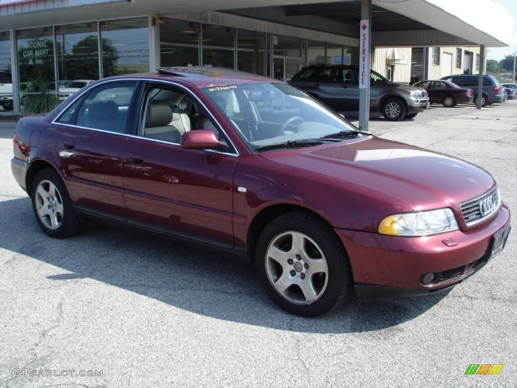 2001 hibiscus red pearl effect audi a4 2.8 quattro sedan #34242524