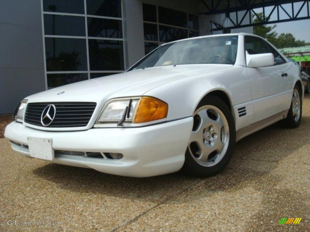 1992 arctic white mercedes benz sl 500 roadster 34242014 for 1992 mercedes benz sl500