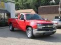 2005 Victory Red Chevrolet Silverado 1500 Regular Cab 4x4  photo #1