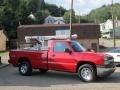 2005 Victory Red Chevrolet Silverado 1500 Regular Cab 4x4  photo #3