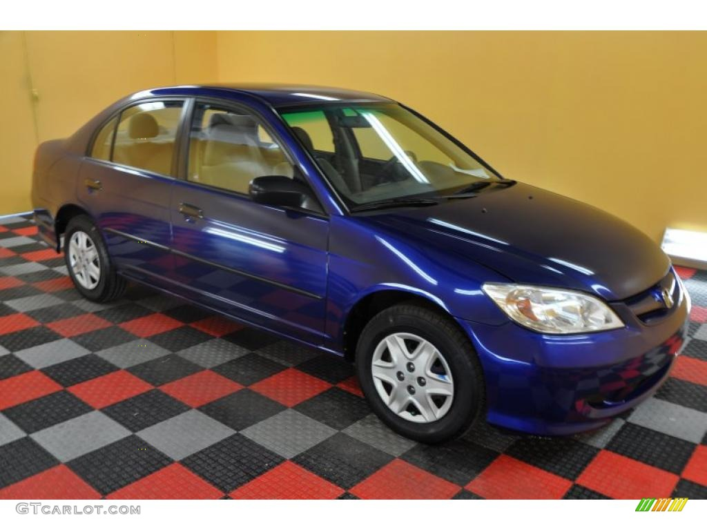 2005 fiji blue pearl honda civic value package sedan