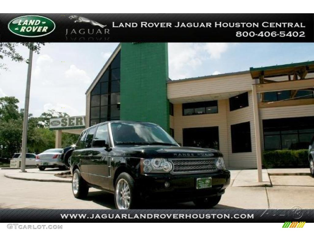 2007 Range Rover Supercharged - Java Black Pearl / Charcoal photo #1