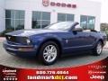 2007 Vista Blue Metallic Ford Mustang V6 Deluxe Convertible  photo #1