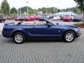 2007 Vista Blue Metallic Ford Mustang V6 Deluxe Convertible  photo #6