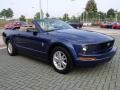 2007 Vista Blue Metallic Ford Mustang V6 Deluxe Convertible  photo #7