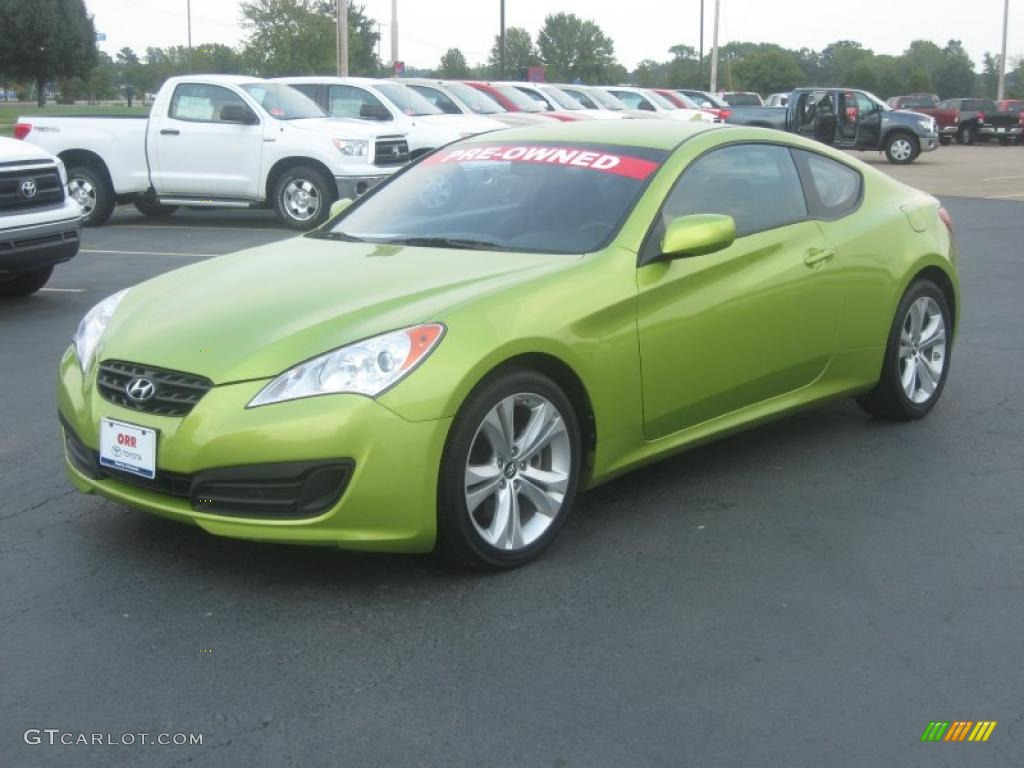 2010 Genesis Coupe 2 0t Lime Rock Green Black Photo 3