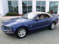 2007 Vista Blue Metallic Ford Mustang V6 Deluxe Convertible  photo #17