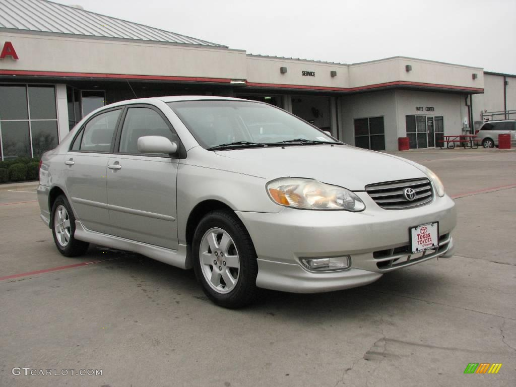 2004 lunar mist silver metallic toyota corolla s 3418969. Black Bedroom Furniture Sets. Home Design Ideas