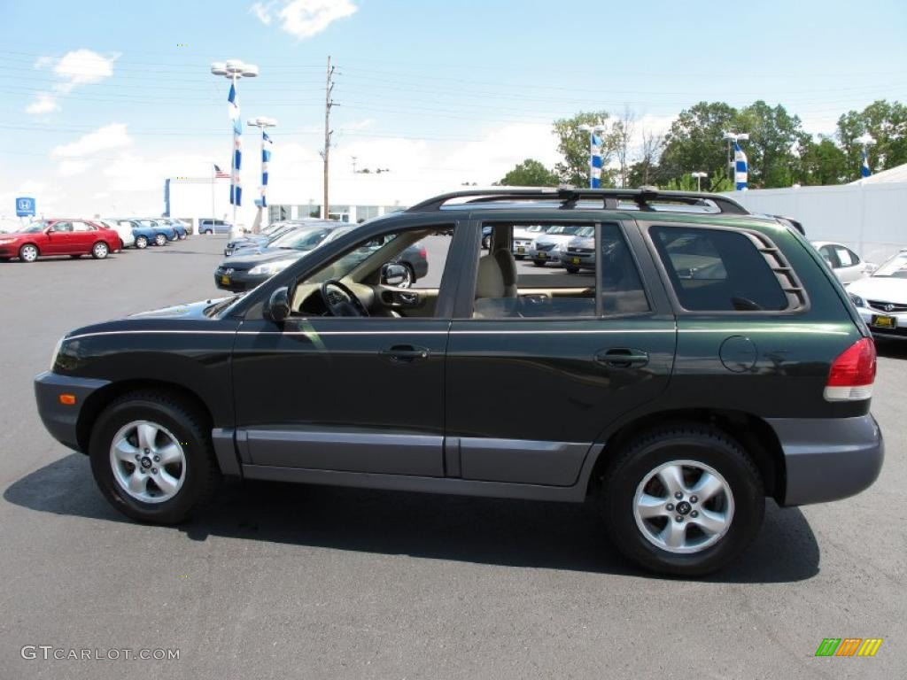 2006 dark emerald green hyundai santa fe gls 4wd 34392042. Black Bedroom Furniture Sets. Home Design Ideas