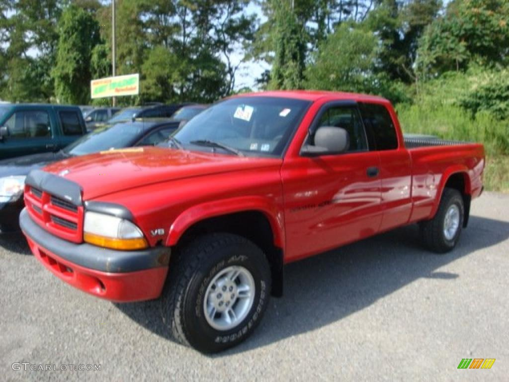 2000 Flame Red Dodge Dakota Sport Extended Cab 4x4 34392290 Photo