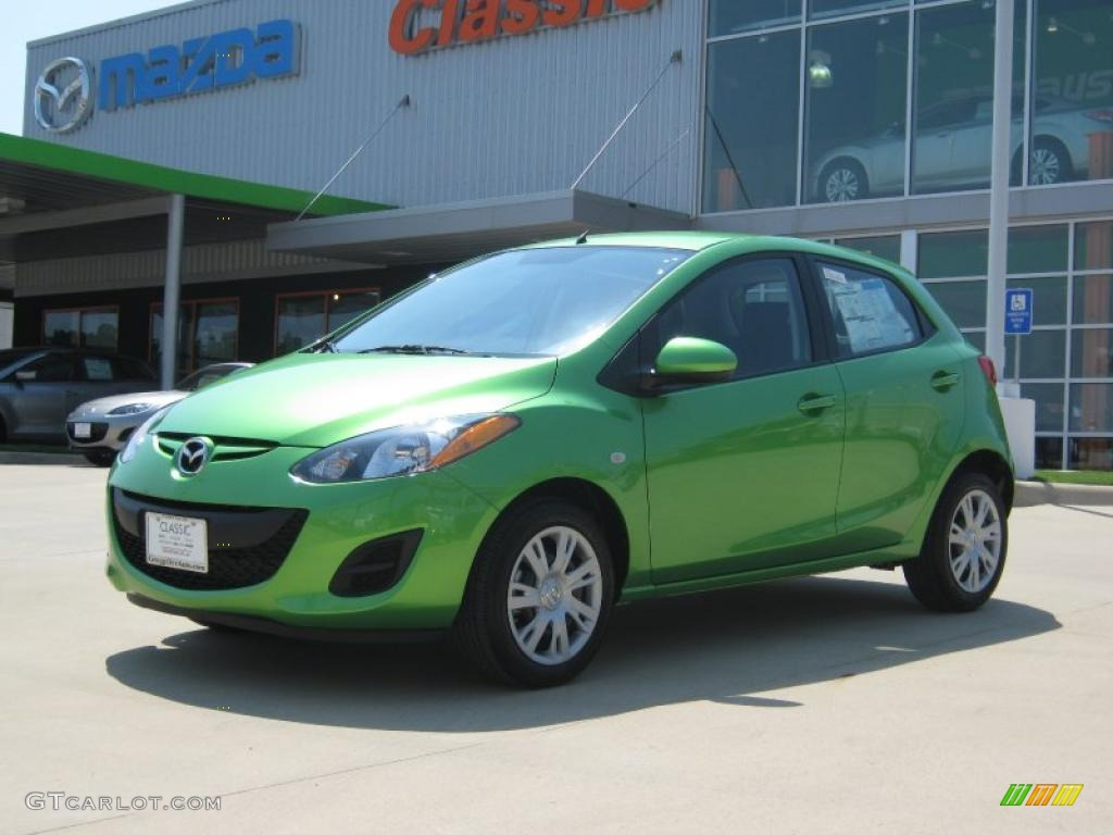 2011 Spirited Green Metallic Mazda Mazda2 Sport 34392525 Gtcarlot Com Car Color Galleries