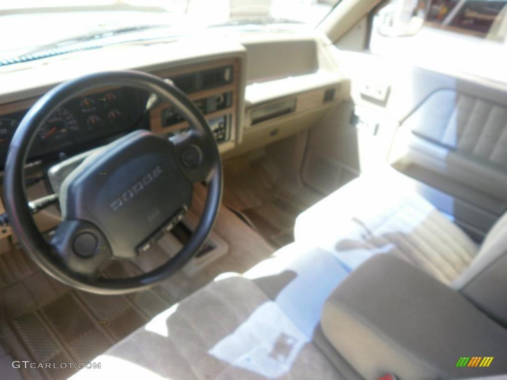 on White 1996 Dodge Dakota Interior