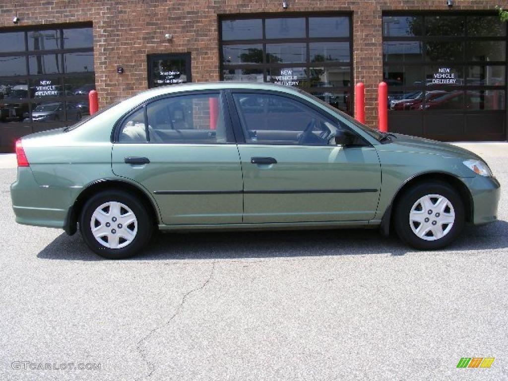 2004 Civic Value Package Sedan Galapagos Green Ivory Beige Photo 2