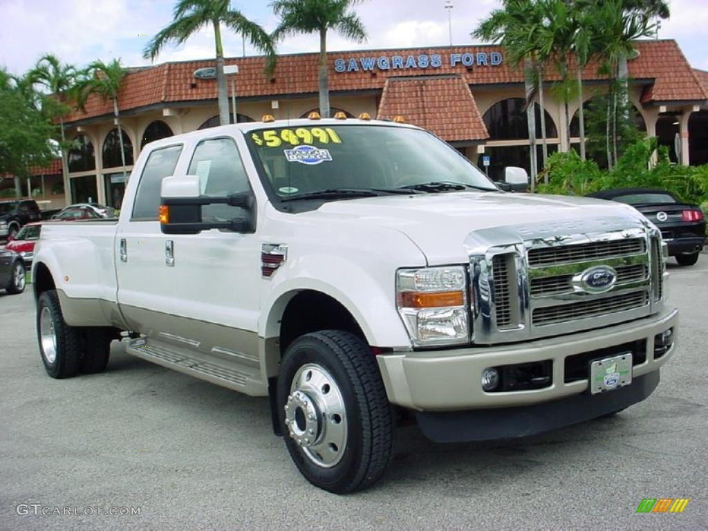 2010 Ford F450 Super Duty King Ranch Crew Cab 4x4 Dually - White