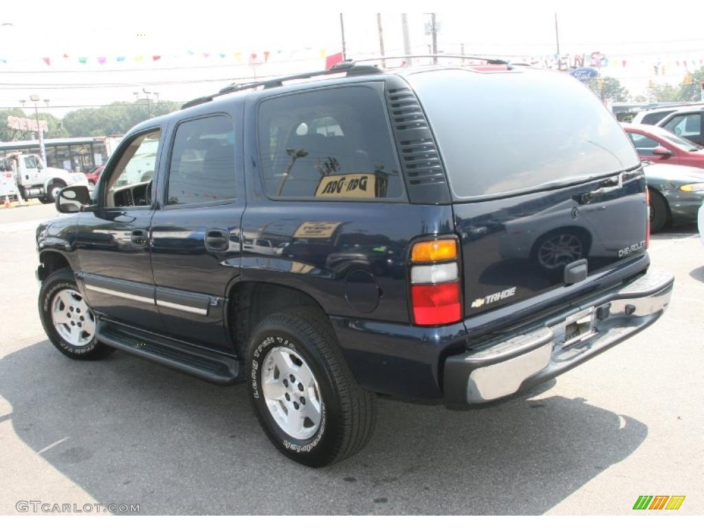 2004 dark blue metallic chevrolet tahoe lt 4x4 34447852. Black Bedroom Furniture Sets. Home Design Ideas