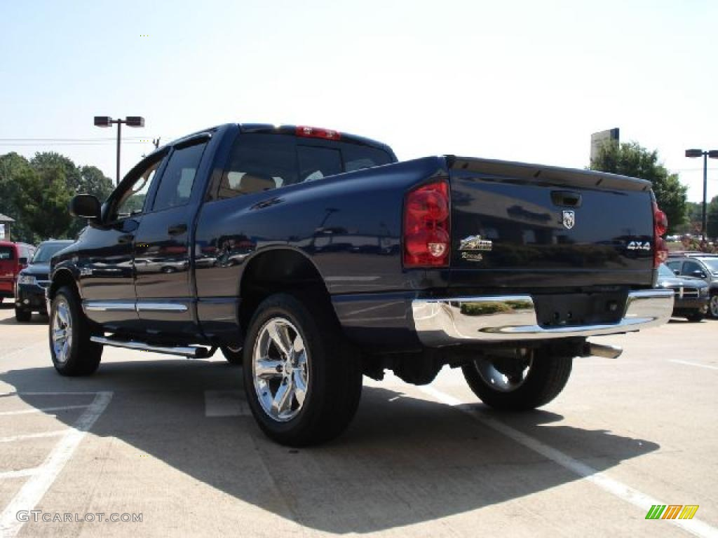 2008 Ram 1500 Big Horn Edition Quad Cab 4x4 - Patriot Blue Pearl / Medium Slate Gray photo #5