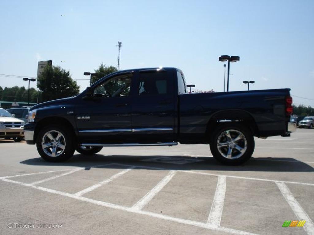 2008 Ram 1500 Big Horn Edition Quad Cab 4x4 - Patriot Blue Pearl / Medium Slate Gray photo #6