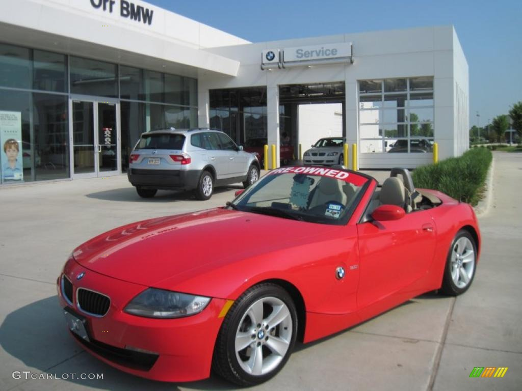 2006 Bright Red Bmw Z4 3 0i Roadster 34513751 Photo 10