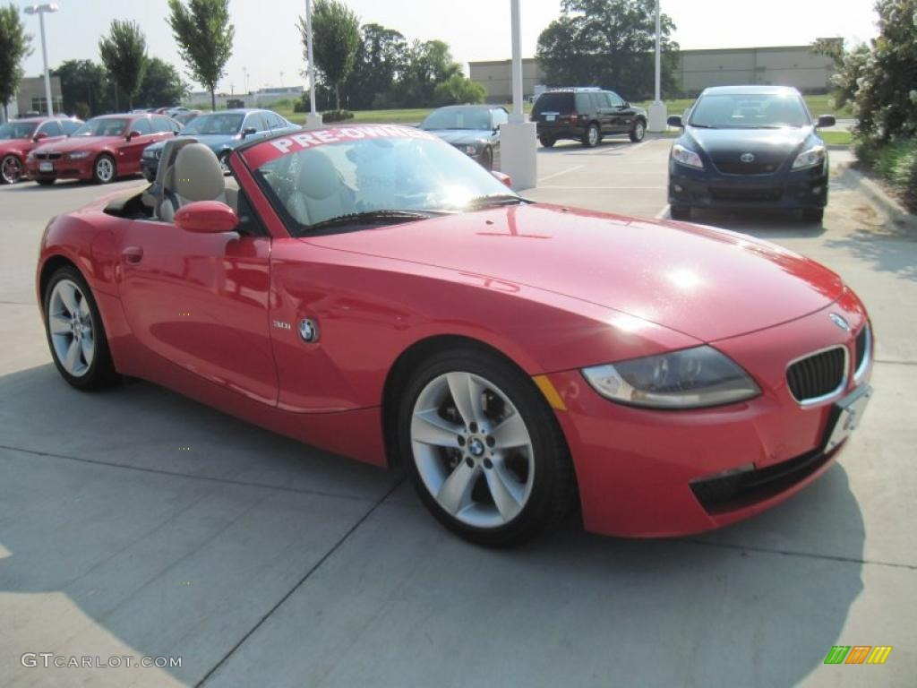 2006 Bright Red Bmw Z4 3 0i Roadster 34513751 Photo 2