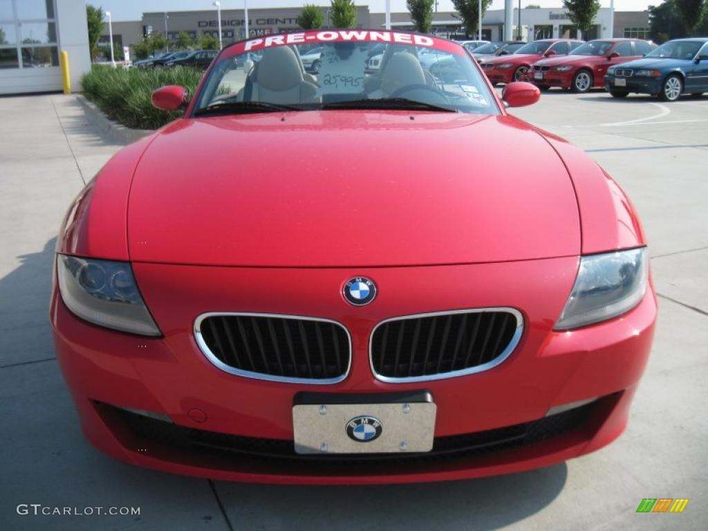 2006 Bright Red Bmw Z4 3 0i Roadster 34513751 Photo 5