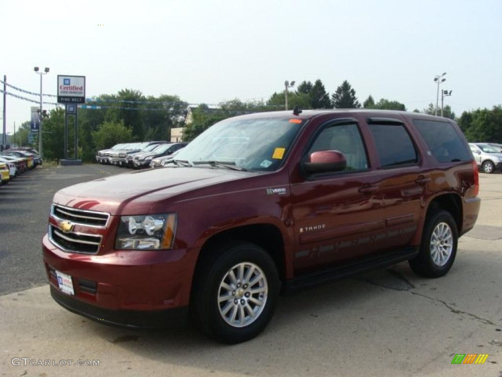 2008 deep ruby metallic chevrolet tahoe hybrid 4x4 34513486 car color galleries. Black Bedroom Furniture Sets. Home Design Ideas