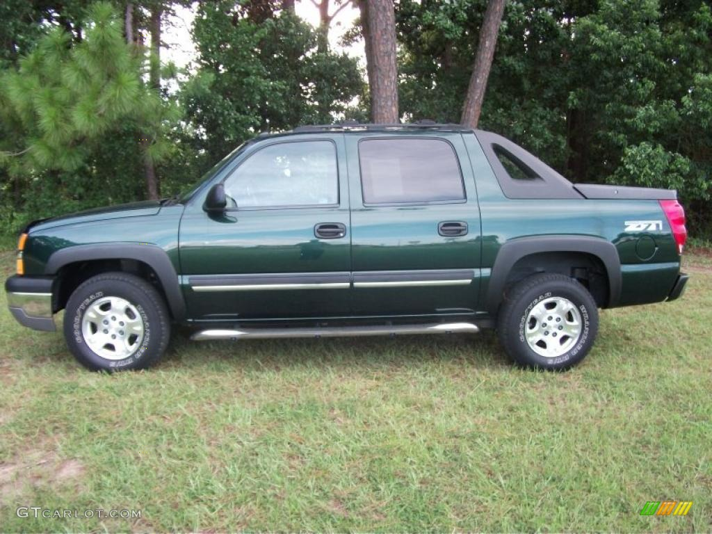 2004 dark green metallic chevrolet avalanche 1500 z71 4x4 34581872 car color. Black Bedroom Furniture Sets. Home Design Ideas