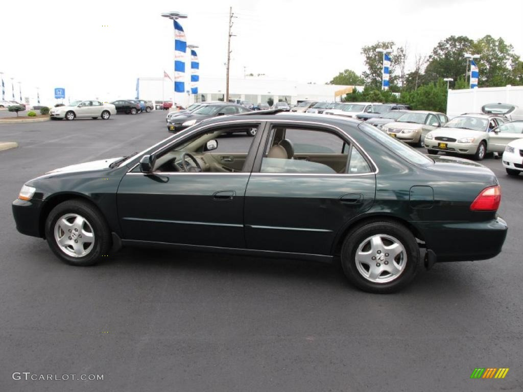 2000 Dark Emerald Pearl Honda Accord EX V6 Sedan #34581340 ...