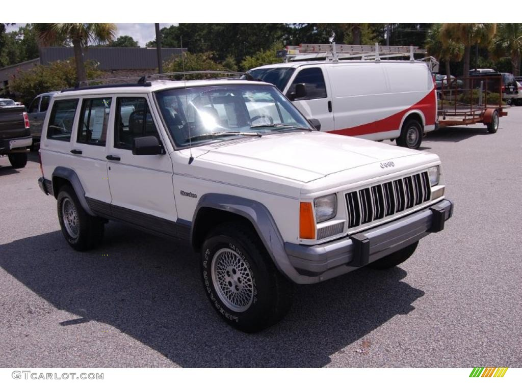 1996 stone white jeep cherokee country 4wd 34581722. Black Bedroom Furniture Sets. Home Design Ideas