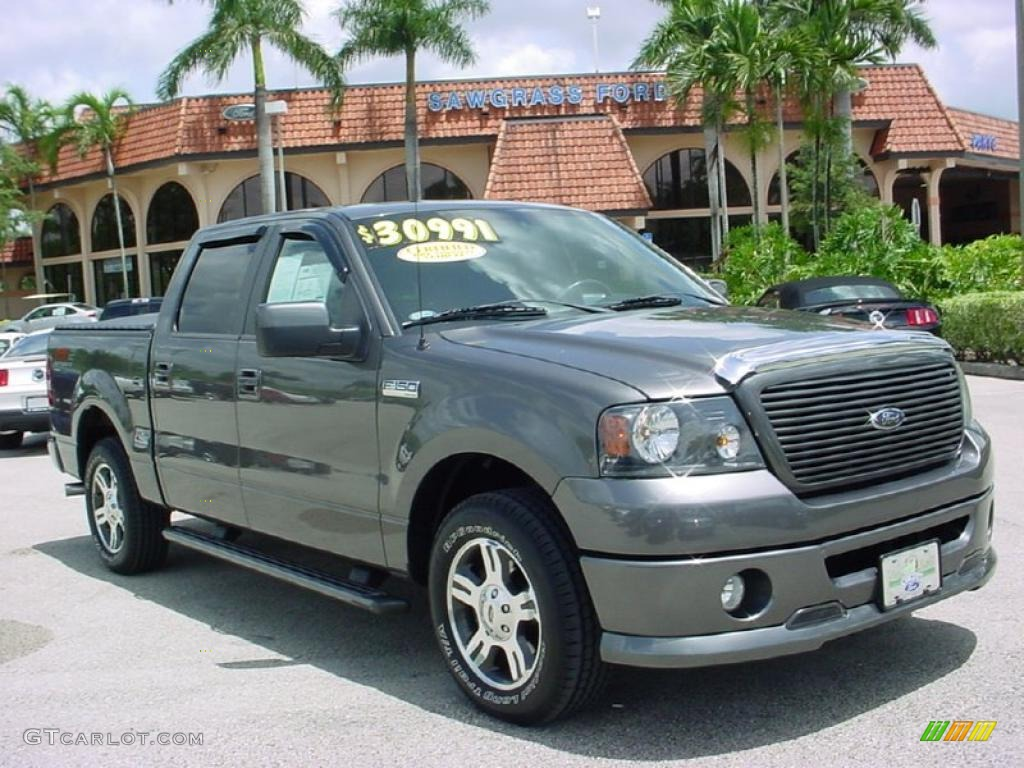 2008 dark shadow grey metallic ford f150 fx2 sport supercrew 34581503 car. Black Bedroom Furniture Sets. Home Design Ideas