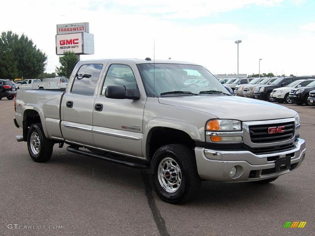 2004 silver birch metallic gmc sierra 2500hd sle crew cab. Black Bedroom Furniture Sets. Home Design Ideas