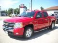 2009 Victory Red Chevrolet Silverado 1500 LT Z71 Crew Cab 4x4  photo #3