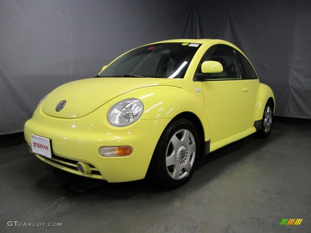 2000 yellow volkswagen new beetle gls 1 8t coupe 34643467. Black Bedroom Furniture Sets. Home Design Ideas
