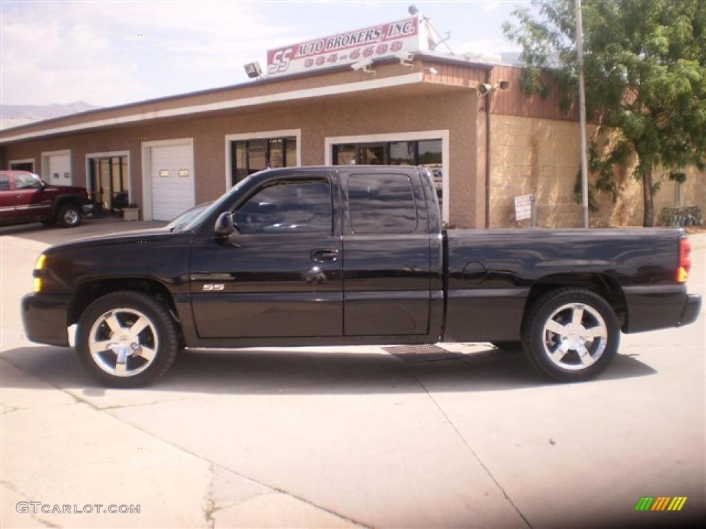 2005 black chevrolet silverado 1500 ss extended cab 4x4 34643909 car color. Black Bedroom Furniture Sets. Home Design Ideas