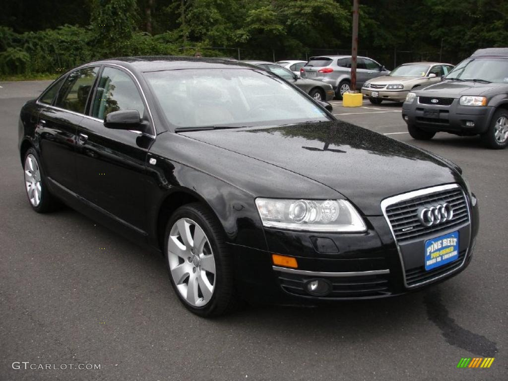 2005 brilliant black audi a6 3 2 quattro sedan 34642894 photo 3 car color. Black Bedroom Furniture Sets. Home Design Ideas