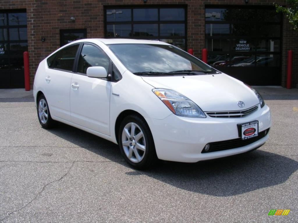 2007 super white toyota prius hybrid touring 34642945 photo 19 car color. Black Bedroom Furniture Sets. Home Design Ideas