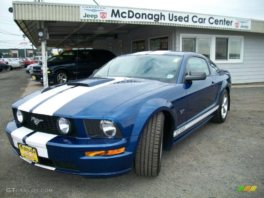 2007 Mustang GT Premium Coupe - Vista Blue Metallic / Black/Parchment photo #1