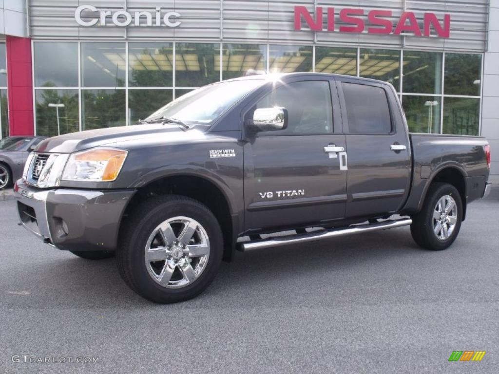 2010 smoke metallic nissan titan se heavy metal chrome edition crew cab 4x4 34736696 gtcarlot. Black Bedroom Furniture Sets. Home Design Ideas