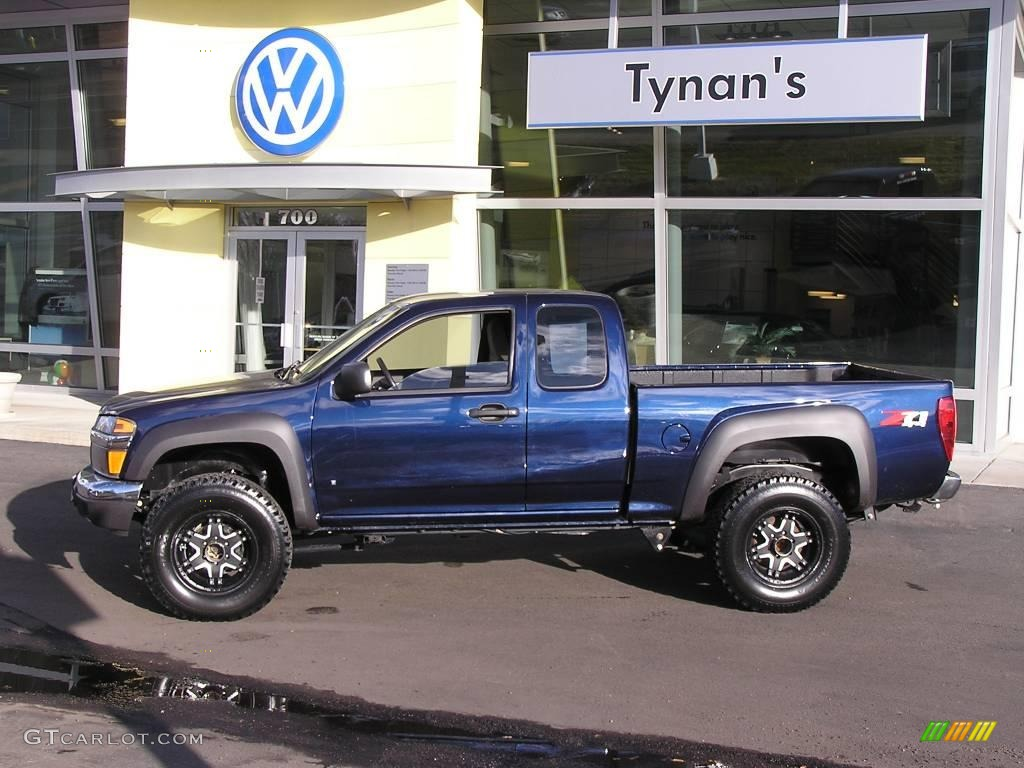 2007 imperial blue metallic chevrolet colorado lt z71 extended cab