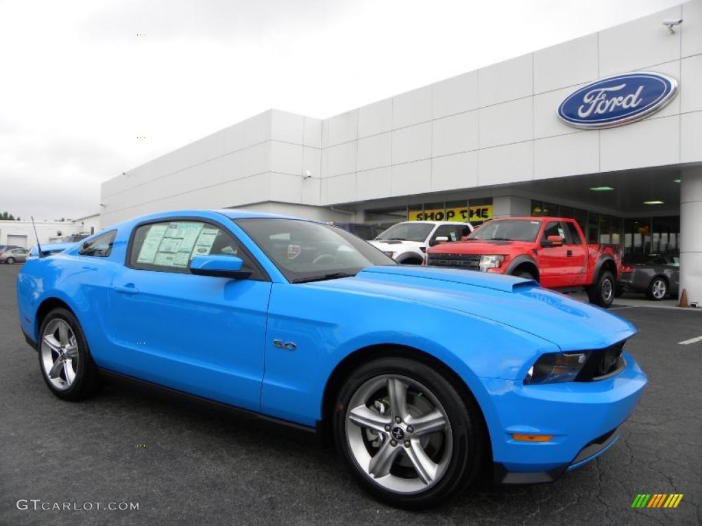 2011 Mustang GT Premium Coupe - Grabber Blue / Charcoal Black/Grabber Blue photo #1