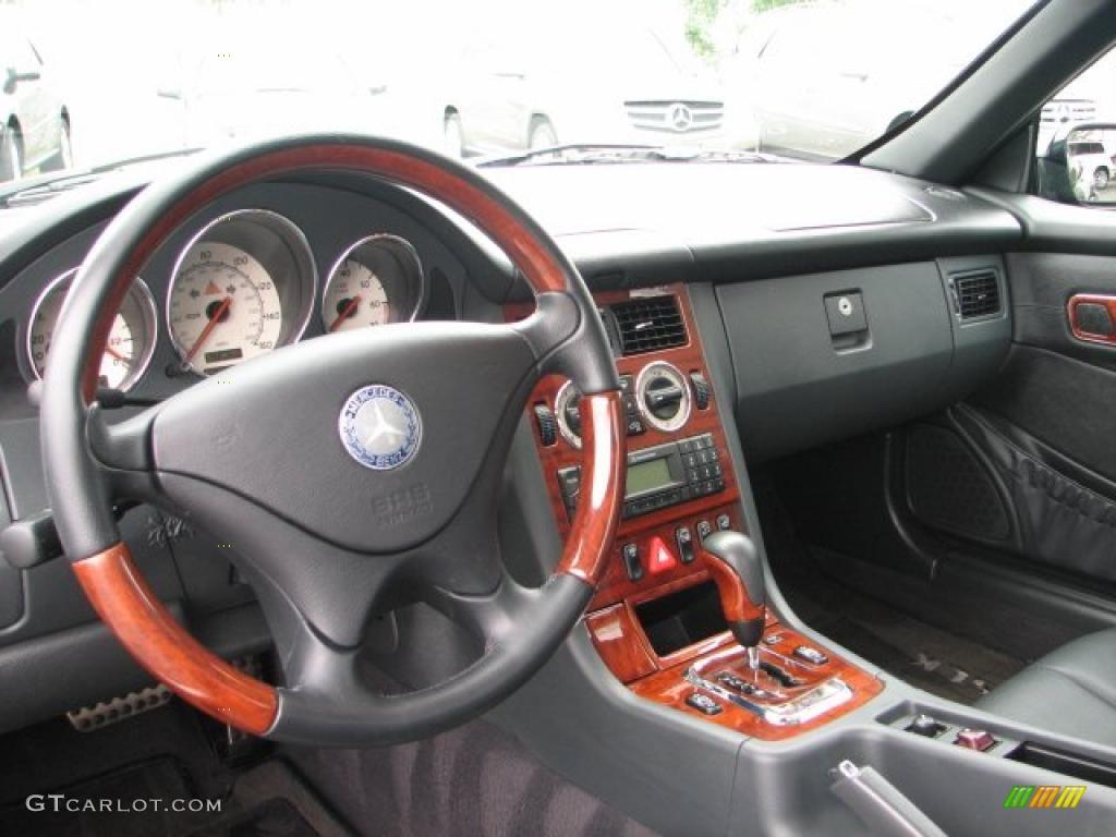 2001 SLK 320 Roadster - Black / Charcoal Black photo #8
