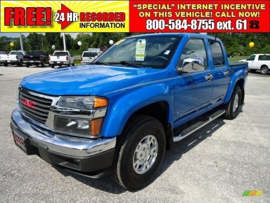 2007 sport blue gmc canyon sle crew cab 34851850. Black Bedroom Furniture Sets. Home Design Ideas