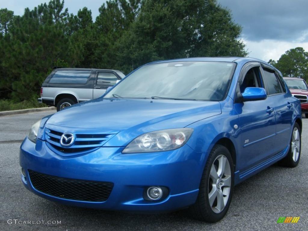 2006 winning blue metallic mazda mazda3 s hatchback 34923638 car color galleries. Black Bedroom Furniture Sets. Home Design Ideas