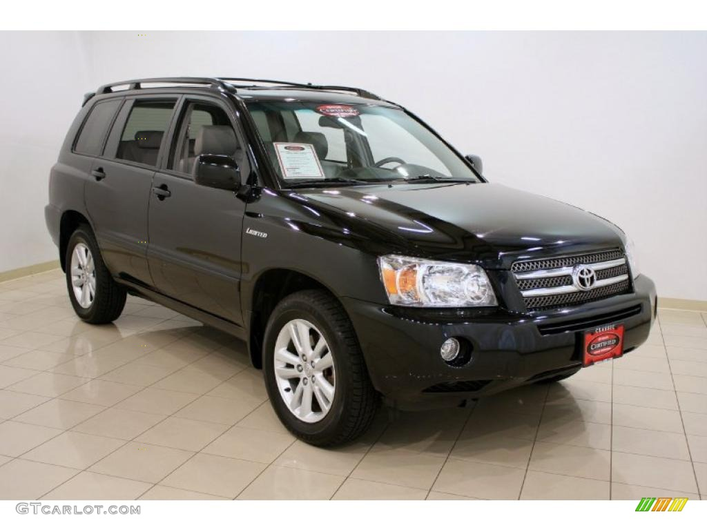 2006 Highlander Hybrid Limited 4wd Black Ash Gray Photo 1