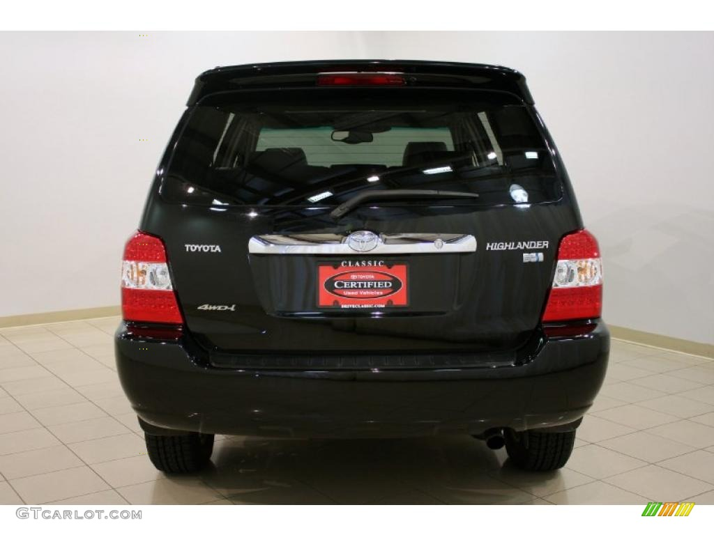 2006 Highlander Hybrid Limited 4wd Black Ash Gray Photo 6